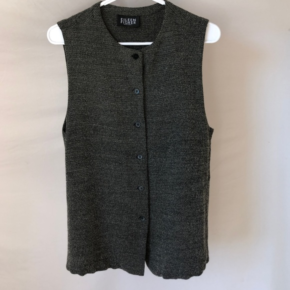 Eileen Fisher Tops - Eileen Fisher Tweed-Knit Sleeveless Top